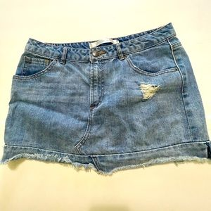 Highway Jeans distressed jean skirt size 11/12